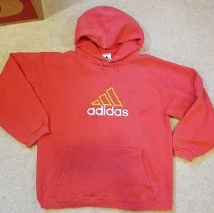 Vinatge Orange Adidas Hoodie size L